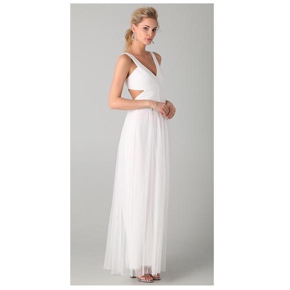 BCBGMaxAzria Dresses | Bcbg White Formal Dress | Poshmark